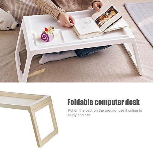 KOBWA Folding Laptop Tischständer für Bett, Bett Notebooktisch mit Klappbaren Beinen, Tragbare Schreibtisch Servieren Frühstück Im Bett Oder Verwendung als TV-Tisch - Kinder-tv-tisch