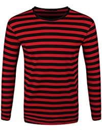 Striped Red and Black Long Sleeved T-Shirt