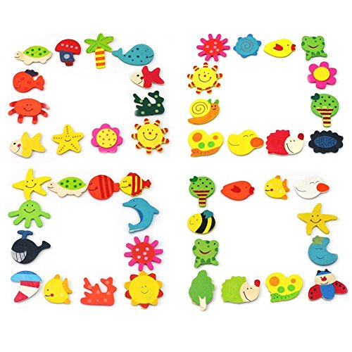 Rocita 1set 24pcs Lovely Animales imán frigorífico