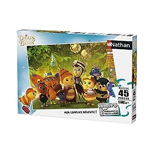 Nathan Puzzle-drôles de pequeñas bêtes-45Piezas, 86531