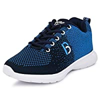 Bourge Boy's Sky and Navy Running Shoes-12 UK (33 EU) (13 Kids US) (Orange-03)