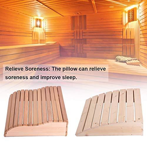 Letway Kopfstützen aus Holz, Gebogene Sauna-Kissen, beruhigende Holzkissen für Badezimmer, Saunen, Schlafzimmer Fun