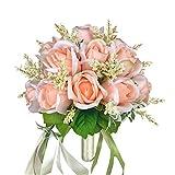 Braut Hochzeit Bouquet Blumensträuße Künstliche Blumen Hochzeit Dekoration, Champagner Rose