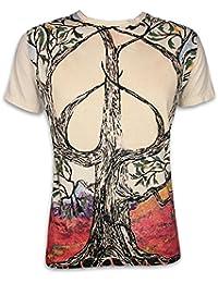 MIRROR Damen Träger-Kleid Psy Peace Symbol Friedens-Zeichen Goa Party Yoga S M L