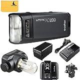 Godox AD200 200Ws 2.4G TTL Flash Strobe 1/8000 HSS Sin Cable Monolight con 2900mAh Litio Batería y Bolsillo Flash Cabeza +Godox X1T-C Flash Disparador para Canon cámara Flash para Cubra 500 Completas Potencia Tiros y recicle en 0.01-2.1 Sec(AD200+X1T-C)
