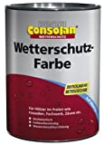 Consolan Profi Wetterschutzfarbe RM 209 schwarz 0,75 Liter