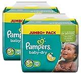 Pampers Baby Dry Größe 5+ Junior Plus 13-27kg Jumbo Plus Pack (2 x 68 Windeln)