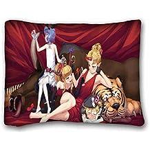Suave funda de almohada de carcasa (animales hamaca paredes lana orangután paja) tamaño estándar funda de almohada para pelo y belleza facial tamaño 20x 26cm apto para full-bed pc-bluish-61403