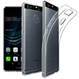 EasyAcc Coque Huawei P9, Etui Transparent Antidérapant pour Huawei P9 Protection Dorsale Étui Slim Invisible Housse Cover Case en TPU Gel avec Absorption de Chocs