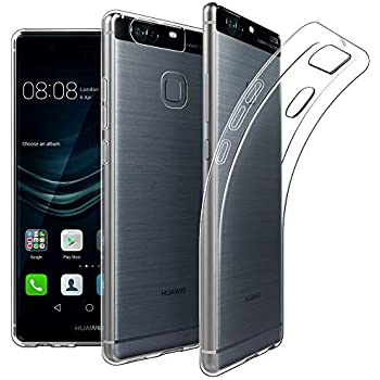 brand new 67b90 16e31 EasyAcc Case for Huawei P9 Soft TPU Crystal Clear Slim Anti Slip Case  Transparent Back Protector Cover for Huawei P9