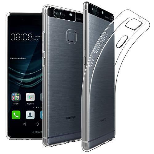 EasyAcc Huawei P9 5.2'' Hülle Case, Dünn Crystal Clear Transparent Handyhülle Cover Soft Premium-TPU Durchsichtige Schutzhülle Backcover Slimcase für Huawei P9