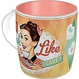 Nostalgic-Art 43018 Say it 50's - Do I Look Like I Care? | Retro Tasse mit Sprüchen | Kaffee-Becher | Geschenk-Tasse | Vintage