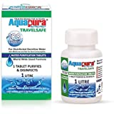 Aquapura Travelsafe, Water Purification Tablets, 100 Tablets Pack, Each Tablet For 1-2 Litres Water (Water Purifiers), 3 Years Shelf Life & Warranty