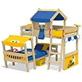 WICKEY Kinderbett 'CrAzY Trunky' - Etagenbett im Safari-Look - Spielbett – 90x200 cm