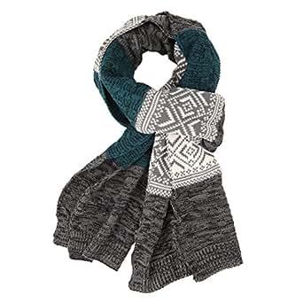 chic chic tricot echarpe ch le longue homme femme doux rayures vintage hiver bleu. Black Bedroom Furniture Sets. Home Design Ideas