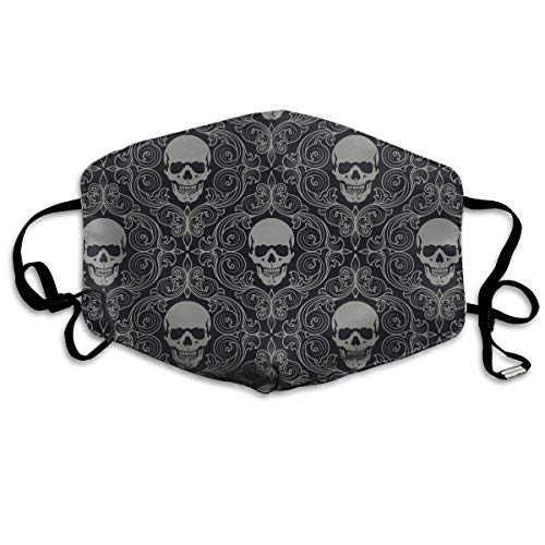 Daawqee Staubschutzmasken, Fashion Cool Skull Patter.jpg Face Masks Breathable Dust Filter Masks Mouth Cover Masks Elastic Ear Loop