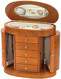 "Mele & Co ""Leah"" Luxury Burlwood Finish Jewellery Box"