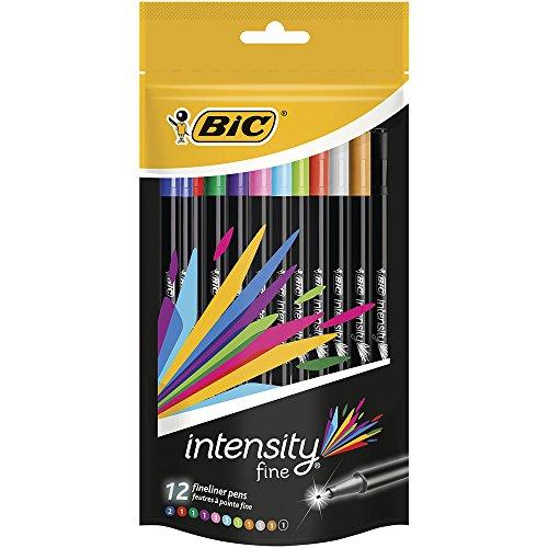 bic-intensity-fine-point-pack-de-12-feutres-decriture-04-mm-couleurs-assorties