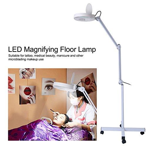 Lampada LED lampada lente d\' ingrandimento 8diottrie lampada lavoro lampada cosmetici lampada ingrandimento regolabile altezza lampada da terra con Rolling