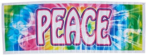 Beistle 57664 1 Pack Peace-Zeichen Banner, 152 x 53 cm