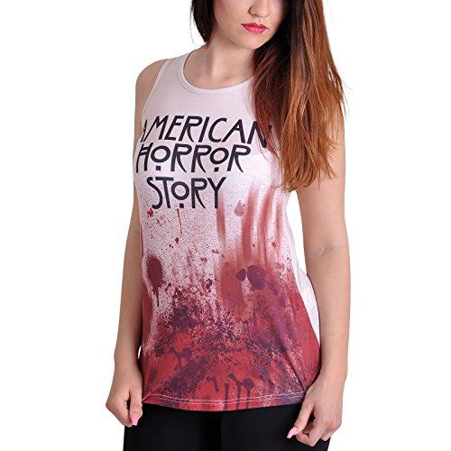 Débardeur American Horror Story sang pour dame crème - S