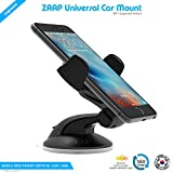 #1: ZAAP® (USA) QUICKTOUCH Two Premium Car Mount mobile holder Universally Compatible for Car Windshield, Car Dashboard & Working Desks (3rd Generation upgrade-Made in KOREA, Black)