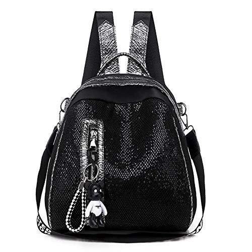 Backpack New Oxford Women Backpacks Zipper School Bags for Teenagers Girls Small Backpacks Women Leisure Backpack Female Rucksack Bag,Black