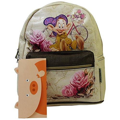 Disney Cucciolo Travel Zaino da Donna Morbido Borsa a Spalla Tempo Libero
