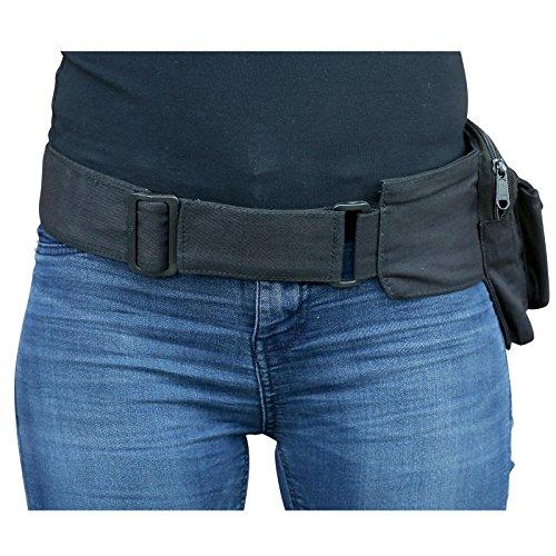 Freak Scene® Tasche ° Gürteltasche ° Jim ° Bauchtasche ° Hüfttasche, alle Farben!!! Schwarz