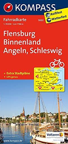 KOMPASS Fahrradkarte Flensburg Binnenland - Angeln - Schleswig: Fahrradkarte. GPS-genau. 1:70000: Fietskaart 1:70 000 (KOMPASS-Fahrradkarten Deutschland, Band 3002)