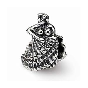Mountain Jewelry Charm danseuse de Flamenco en argent Sterling Compatible avec les bracelets Pandora, Biagi, Chamilia et Bracelet