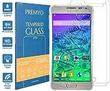 PREMYO Verre Trempé pour Samsung Alpha Film Protection Galaxy Alpha avec un Degré de Dureté de 9H et des Angles Arrondis 2,5D Protection Écran compatible avec Samsung Galaxy Alpha