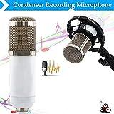 BM 800Dynamic Kondensator Wired Recording Mikrofon mit Vibration Kit Vibration Tisch KTV Karaoke Netzwerk K Lied Großmembran Kondensator Mikrofon weiß