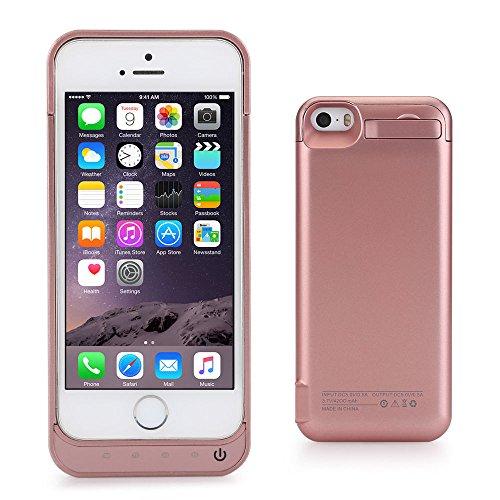 iPhone 55S 5C se custodia con caricabatteria, Lenuo Power Pack