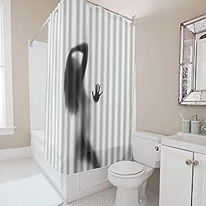 cosyvie rideau de douche en tissu polyester anti moisissure et imperm able pour baignoire salle. Black Bedroom Furniture Sets. Home Design Ideas