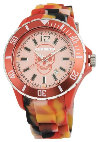 CEPHEUS - CPX01-094 - Montre Mixte - Quartz Analogique - Bracelet Silicone Orange