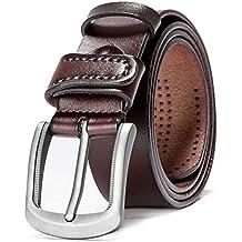 Amazon.es  cinturones hombre cuero 18cd292f58b4