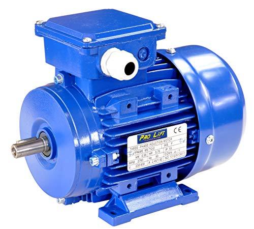 Pro-Lift-Werkzeuge 3-Phasen Drehstrommotor 0,55 kW 380 V Elektromotor 2760 U/min Industriemotor electric motor B3 Drehstrom 550W 230V/400V