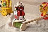 Jouet en bois roulant avec peinture de Yavoriv Houtsoules