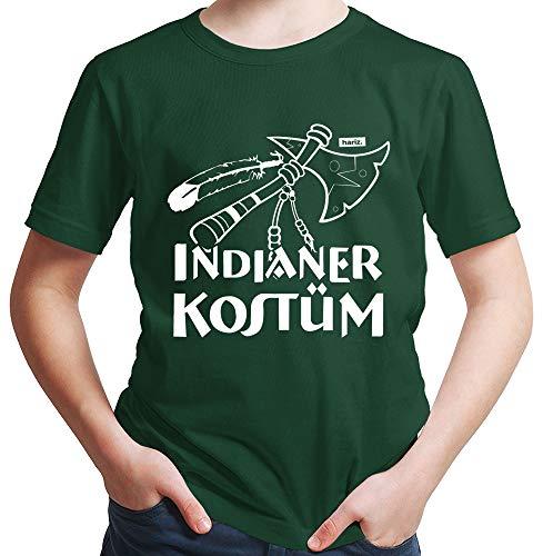 HARIZ  Jungen T-Shirt Indianer Kostüm Karneval Kostüm Plus Geschenkkarte Dunkel Grün 116/5-6 Jahre -