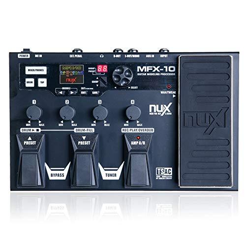 MFX-10 Modelado Procesador Guitarra Pedal Efecto Guitarra