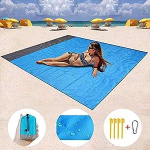 ZMZTec Picknickdecke, Stranddecke Strandtuch, Wasserdichte sandabweisende Camingmatte, schnell troknend und kompakt…