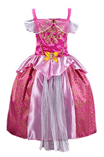 Kleid Grimms Märchen Kostüm Cosplay Mädchen Halloween Kostüm Rosa#1, Gr.140 (Kleine Rote Halloween Kostüme)