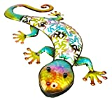 Christmas Concepts® 53cm Bunte Metall Gecko Wand Kunst - Indoor / Outdoor Garten Dekoration