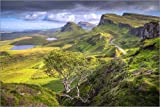 Posterlounge Forex-Platte 180 x 120 cm: Quiraing, Isle of Skye, Schottland von Age fotostock/Mauritius Images