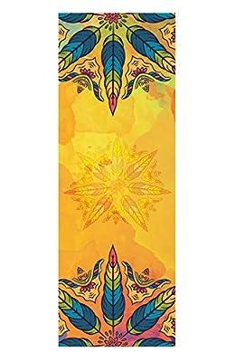 Dicke rutschfeste Yoga Handtücher, rutschfest saugfähig und hitzebeständig DOXUNGO Premium Yogatuch, Yoga Towel mit dem verschiedenen und schönen Druck