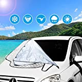 Car Sun Shade - Exqline Car Windshield Shades, Blocks UV Rays Sun Visor Protector, Sunshade To Keep Your Vehicle Cool And Damage Free, Easy To Use, Fits Windshields of Various Sizes