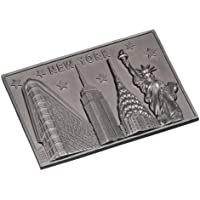 Rectagular New York Souvenir Metal Magnet NYC Statue of Liberty NY Chrysler Building Empire State Building Flatiron Building Metal Magnet by