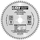 CMT Orange Tools Kreissägeblatt Feinschnitt HW 216 x 2,8/1,8 x 30 Z=64 15° ATB - 292.216.64M - für Querschnitte