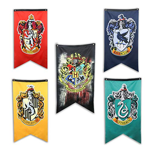 TPOTTER 5pcs[125X70CM] Geburtstags Fahnen und Flaggen für Harry Party Dekorations Töpfer Potter Geschenk Versorgungen Flag und Banner Dekor